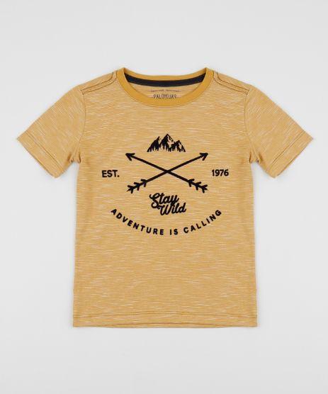 Camiseta-infantil-Flechas-Manga-Curta-Gola-Careca-Mostarda-9943938-Mostarda_1