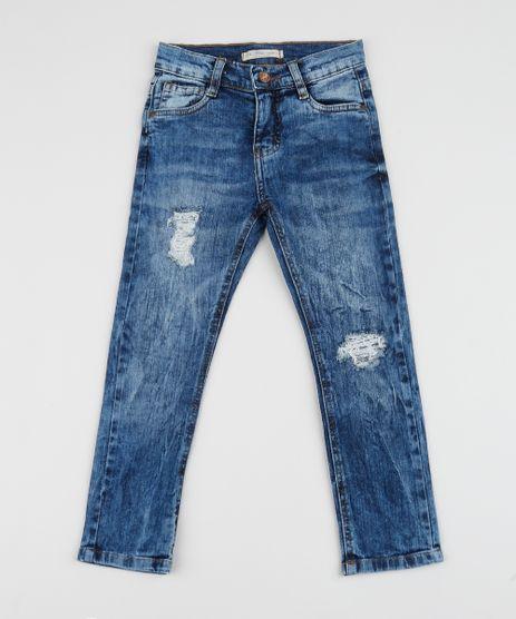 Calca-Jeans-Infantil-Skinny-Destroyed-Azul-Medio-9953878-Azul_Medio_1