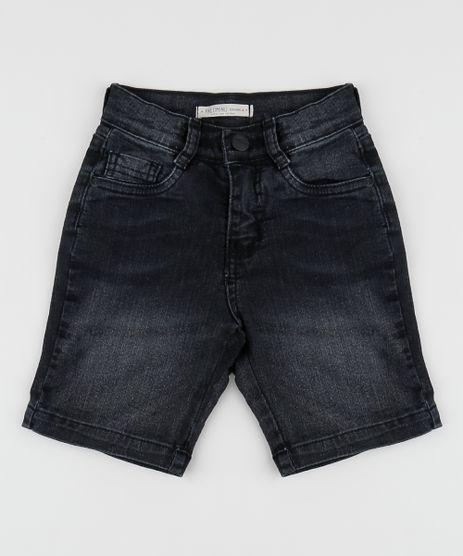 Bermuda-Jeans-Infantil-Reta-com-Barra-Dobrada-Estampada-Preto-9953879-Preto_1
