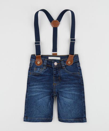 Bermuda-Jeans-Infantil-Reta-com-Suspensorio-Listrado-Azul-Medio-9954043-Azul_Medio_1