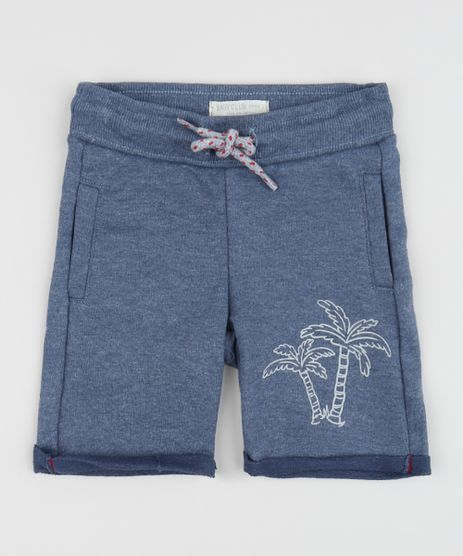 Bermuda-de-Moletom-Infantil-Coqueiros-com-Barra-Dobrada-Azul-9955043-Azul_1