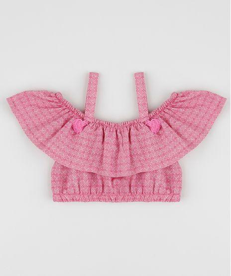 Blusa-Infantil-Ciganinha-Cropped-Open-Shoulder-Estampado-Quadriculada-Manga-Curta-Rosa-9955577-Rosa_1