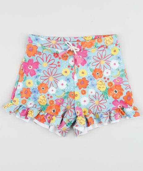 Short-Infantil-Estampado-Floral-com-Babados-Azul-9956017-Azul_1