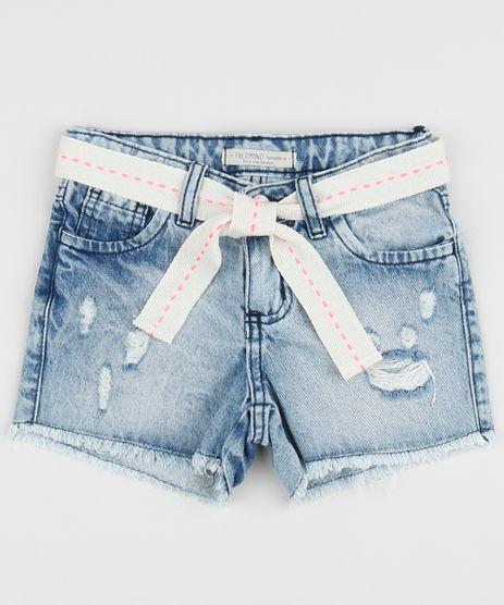 Short-Jeans-Infantil-Destroyed-com-Barra-Desfiada-e-Faixa-para-Amarrar-Animal-Print-de-Onca-Azul-Claro-9957874-Azul_Claro_1