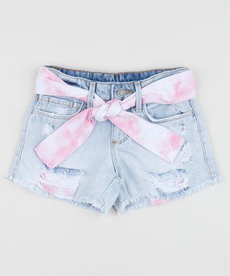 Short-Jeans-Infantil-Destroyed-com-Barra-Desfiada-e-Faixa-para-Amarrar-Azul-Claro-9959517-Azul_Claro_1