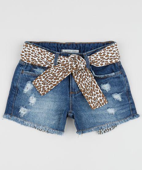 Short-Jeans-Infantil-Destroyed-com-Barra-Desfiada-e-Faixa-para-Amarrar-Animal-Print-de-Onca-Azul-Medio-9959518-Azul_Medio_1