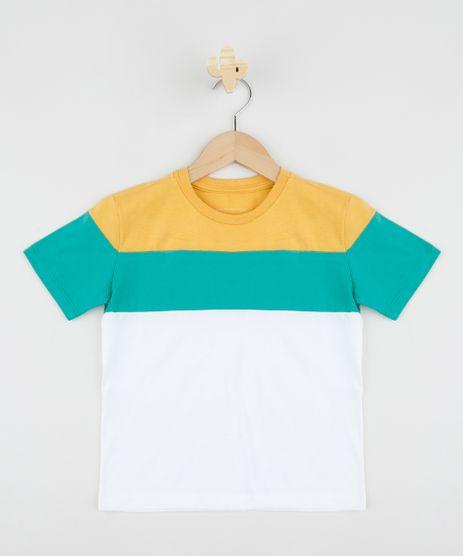 Camiseta-infantil-com-Recortes-Coloridos-Manga-Curta-Gola-Careca-Off-White-9961418-Off_White_1
