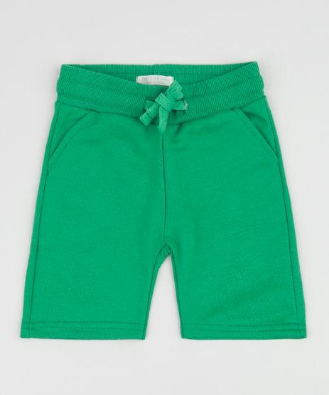 Bermuda-de-Moletom-Infantil-com-Bolsos-Verde-9961501-Verde_1