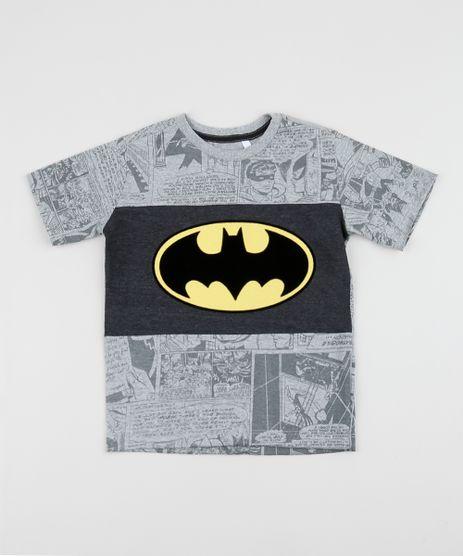 Camiseta-Infantil-Batman-Estampada-com-Recorte-Manga-Curta-Cinza-Mescla-Claro-9962356-Cinza_Mescla_Claro_1