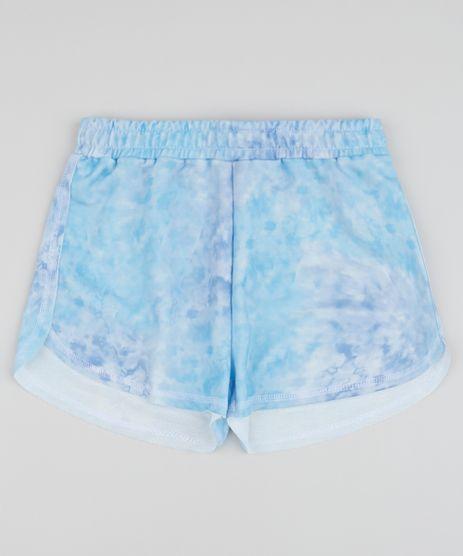 Short-Juvenil-Running-Estampado-Tie-Dye-com-Bolsos-Azul-9963338-Azul_1