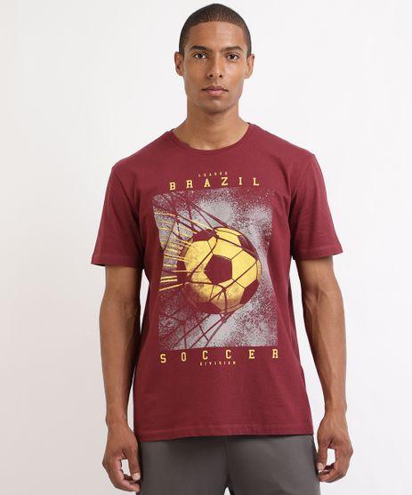 Camiseta-Masculina-Esporte-Ace-Futebol--Brazil-Soccer--Manga-Curta-Gola-Careca-Vinho-9961643-Vinho_1