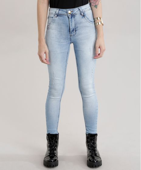 8079ae4f4 Calca-Jeans-Super-Skinny-Sawary-Levanta-Bumbum-Azul-