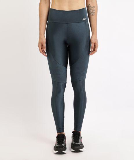 Calca-Legging-Feminina-Cintura-Alta-com-Brilho-e-Recorte-Camuflado-Azul-Marinho-9945721-Azul_Marinho_1