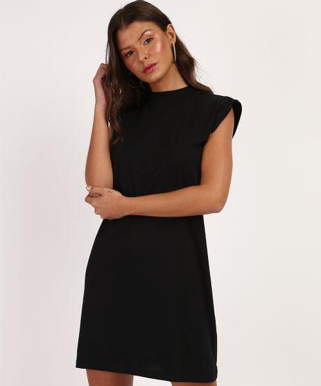 Vestido-Feminino-Basico-Curto-Muscle-Dress-com-Ombreira-Gola-Alta-Preto-9960546-Preto_1