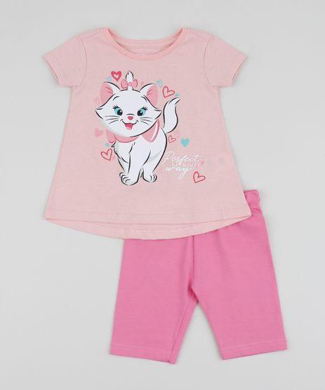 Conjunto-Infantil-Blusa-Marie-com-Babado-Manga-Curta-Rosa-Claro---Bermuda-Rosa-9954995-Rosa_1