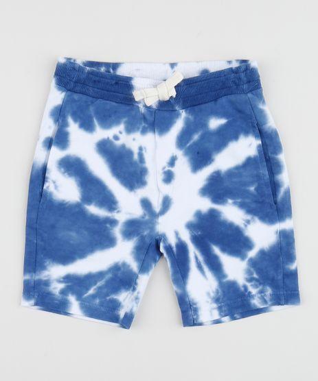 Bermuda-de-Moletom-Infantil-Estampada-Tie-Dye-com-Cordao-Azul-9959694-Azul_1