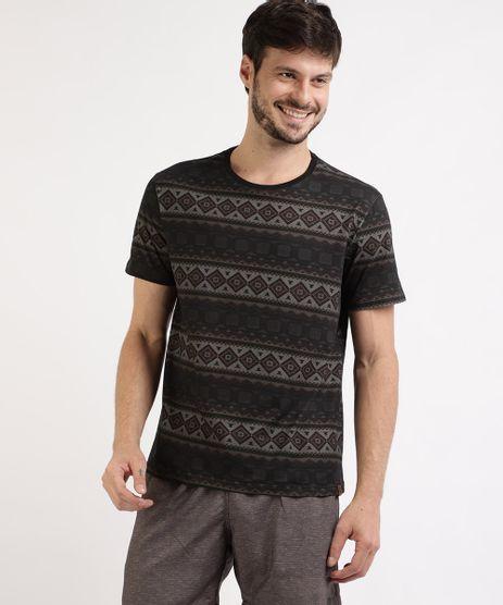 Camiseta-Masculina-Estampada-Etnica-Manga-Curta-Gola-Careca-Preta-9959721-Preto_1