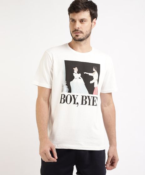 Camiseta-Masculina--Boybye----Cinderela-Manga-Curta-Gola-Careca-Branca-9959830-Branco_1