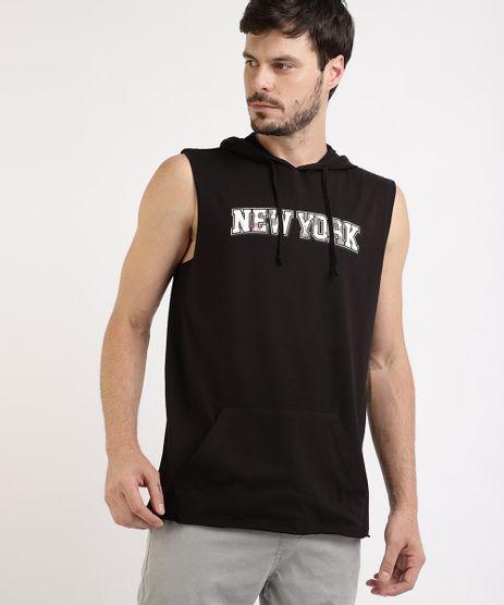 Regata-Masculina-Mickey---New-york---com-Bolso-Canguru-e-Capuz-Preta-9959845-Preto_1