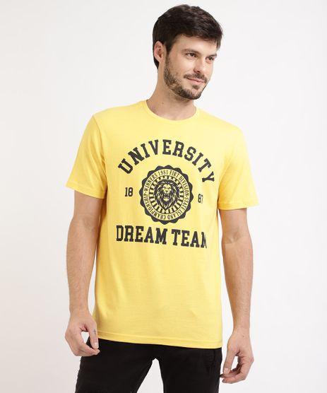 Camiseta-Masculina--University--Manga-Curta-Gola-Careca-Amarela-9963296-Amarelo_1