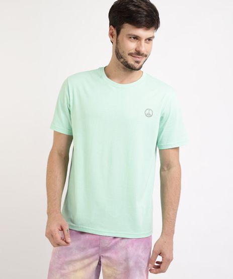 Camiseta-Masculina--Simbolo-da-Paz--Manga-Curta-Gola-Careca-Verde-Claro-9963310-Verde_Claro_1