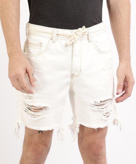 Bermuda-Jeans-Masculina-Reta-Destroyed-com-Bolsos-e-Cadarco-Branca-9965985-Branco_1