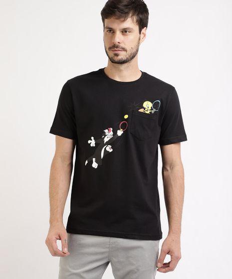 Camiseta-Masculina-Piu-Piu-e-Frajola-Manga-Curta-Gola-Careca-Preta-9963299-Preto_1