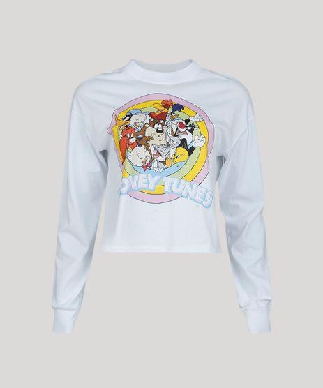 Blusa-Feminina-Looney-Tunes-Manga-Longa-Gola-Alta-Branca-9964597-Branco_1