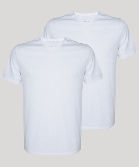 Kit-de-2-Camisetas-Masculinas-Basicas-Manga-Curta-Gola-V-Branco-9962745-Branco_1