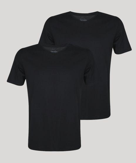 Kit-de-2-Camisetas-Masculinas-Basicas-Manga-Curta-Gola-V-Preto-9962746-Preto_1