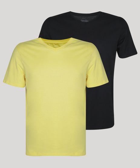Kit-de-2-Camisetas-Masculinas-Basicas-Manga-Curta-Gola-V-Multicor-9962748-Multicor_1
