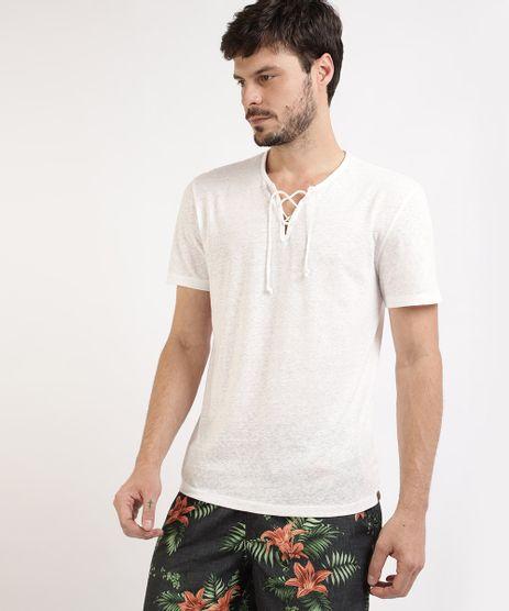 Camiseta-Masculina-Triblend-Manga-Curta-Gola-V-com-Tiras-para-Amarrar-Branca-9942573-Branco_1