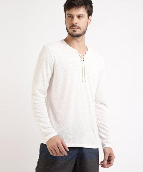 Camiseta-Masculina-Triblend-Manga-Longa-Gola-V-com-Tiras-para-Amarrar-Branca-9943677-Branco_1