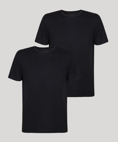 Kit-de-2-Camisetas-Masculinas-Basicas-Manga-Curta-Gola-Careca-Preta-9962758-Preto_1