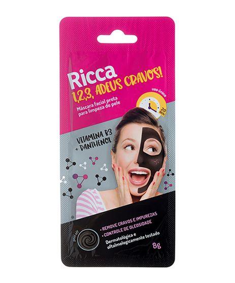 Mascara-Facial-Ricca-Preta-Para-Limpeza-de-Pele-123-Adeus-Cravos---Unico-9964380-Unico_1