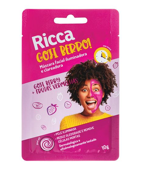 Mascara-Facial-Ricca-Iluminadora-e-Clareadora-Goji-Berro--Unico-9964445-Unico_1