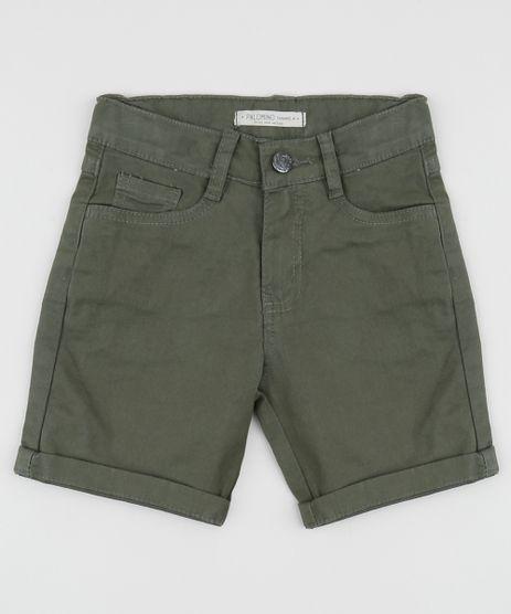 Bermuda-de-Sarja-Infantil-Reta-Verde-9641333-Verde_1