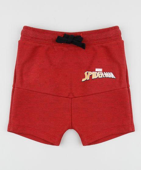 Bermuda-de-Moletom-Infantil-Saruel-Homem-Aranha-com-Recorte-Vermelha-9947972-Vermelho_1