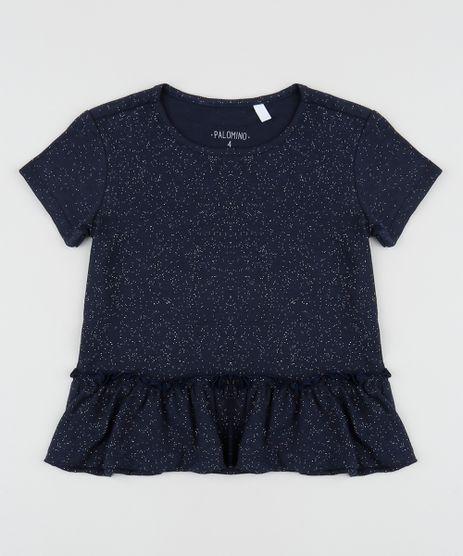 Blusa-Infantil-Basica-com-Glitter-e-Babado-Manga-Curta-Azul-Marinho-9954811-Azul_Marinho_1
