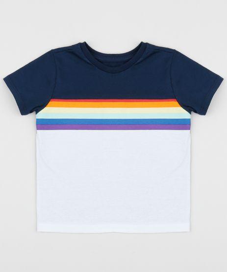 Camiseta-Infantil-Arco-Iris-Manga-Curta-Branca-9961495-Branco_1