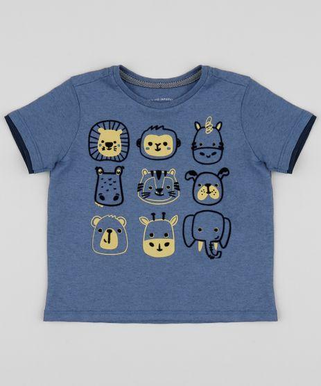Camiseta-Infantil-com-Animais-do-Zoologico-Manga-Curta-Azul-9955066-Azul_1