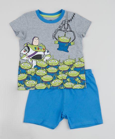 Pijama-Infantil-Buzz-Lightyear-Toy-Story-Manga-Curta--Cinza-Mescla-9956713-Cinza_Mescla_1