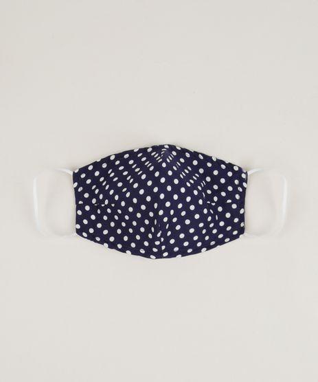 Mascara-de-Tecido-Reutilizavel-para-Protecao-Individual-Estampada-de-Poa-Azul-Marinho-9953240-Azul_Marinho_1
