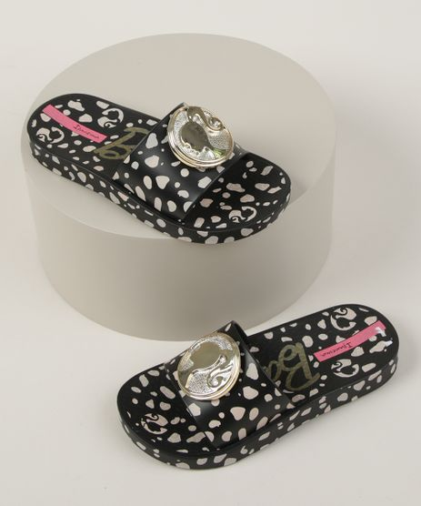 Chinelo-Slide-Infantil-Ipanema-Barbie-Estampado-Animal-Print-Onca-Preto-9961775-Preto_1