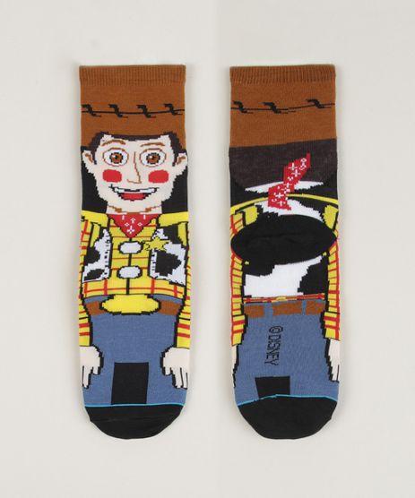 Meia-Infantil-Cano-Alto-Woody-Toy-Story-Estampada-Marrom-9962635-Marrom_1