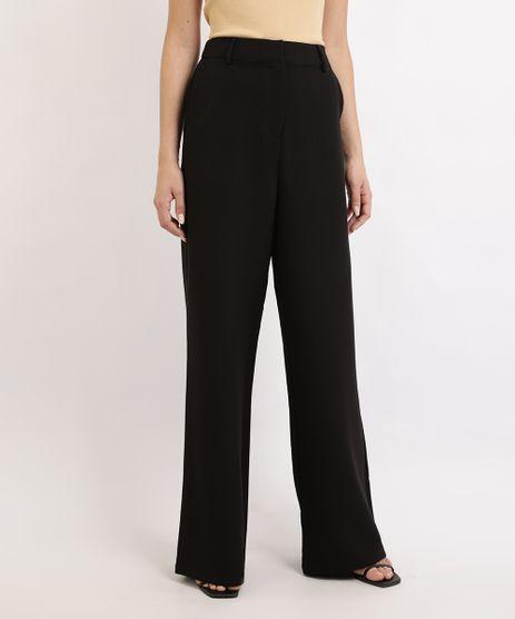 Calca-Feminina-Mindset-Pantalona-Cintura-Super-Alta-Alfaiatada-com-Elastico-Preta-9912582-Preto_1
