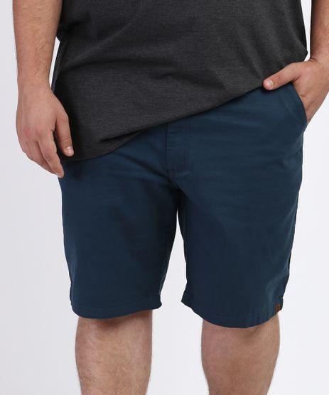 Bermuda-de-Sarja-Masculina-Plus-Size-Reta-Chino-Azul-Petroleo-9958597-Azul_Petroleo_1