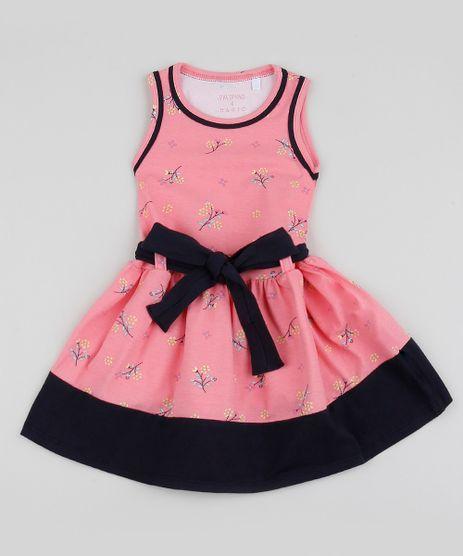 Vestido-Infantil-com-Faixa-para-Amarrar-Rosa-9953028-Rosa_1