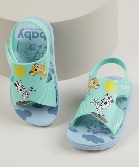 Papete-Infantil-Grendene-Bichos-com-Velcro-Azul-Claro-9962145-Azul_Claro_1