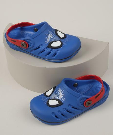 Babuche-Infantil-Grendene-Homem-Aranha--Azul-9962312-Azul_1